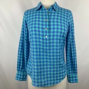 Vineyard Vines Long Sleeve Gingham Button Up Shirt